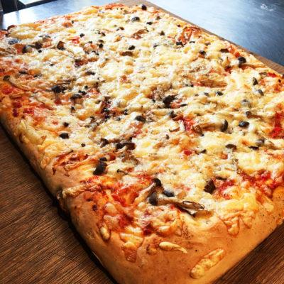 パン教室 フォカッチャのピザ風 きのこ