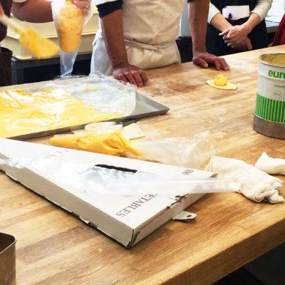 パン教室 クリームパン カスタードクリーム
