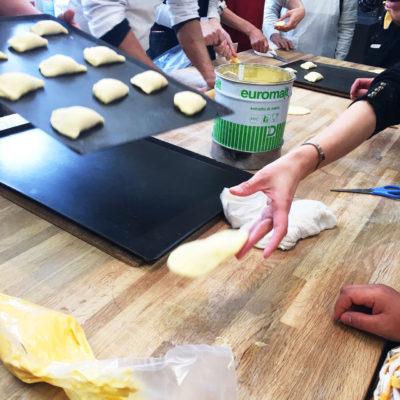 パン教室 クリームパン 成型