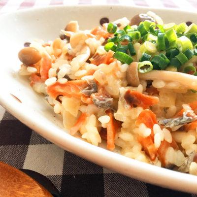 鮭とばレシピ 和風リゾット
