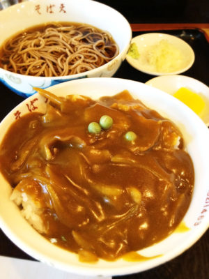 そば天 カレー丼&そばセット