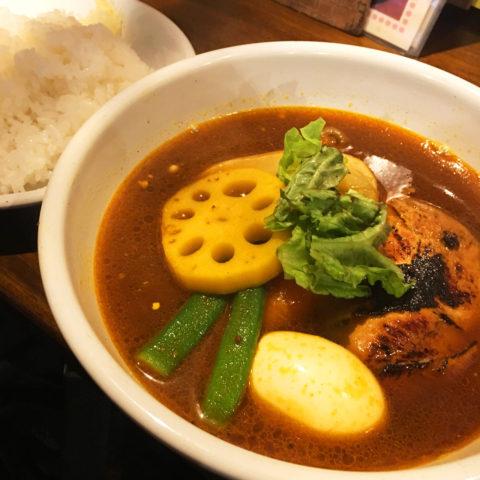 札幌 gopのアナグラ チキンと野菜のスープカレー