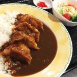 羽幌グルメ|揚げ餃子の歯ごたえも香ばしい、えびタコ餃子カレー