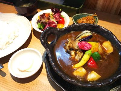 びえい和牛と旬彩 炭火割烹 亀鶴 出汁が決めての咖喱定食